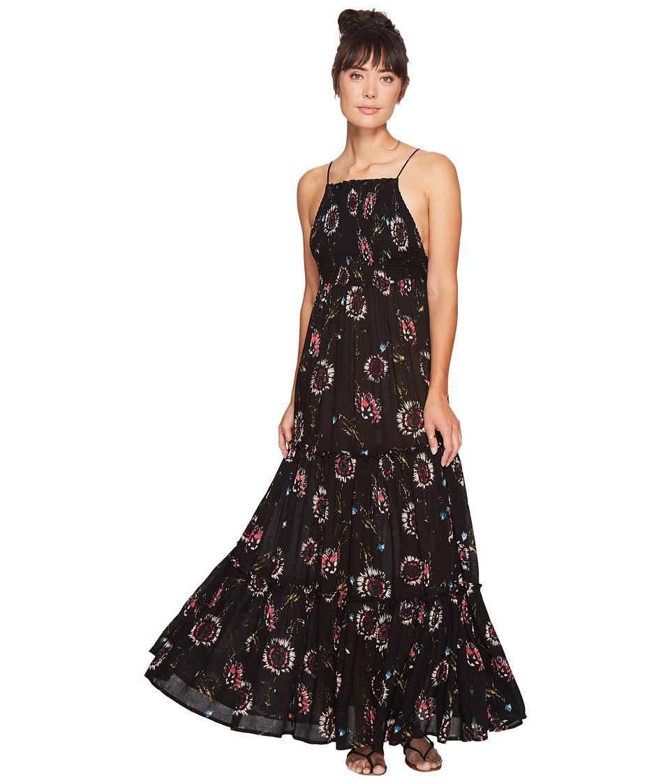 Free People Garden Party Maxi Dress (Black Combo) Women
