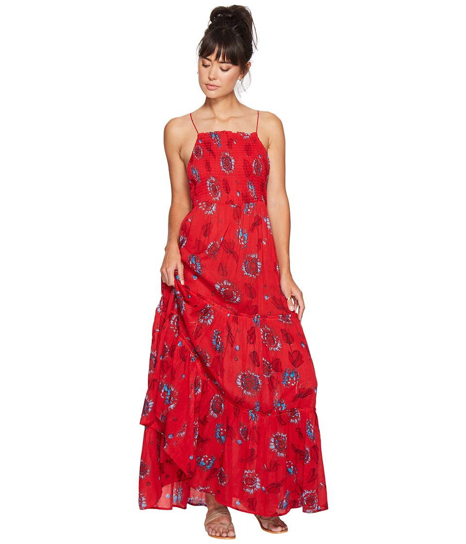 Free People Garden Party Maxi Dress (Red Combo) Women