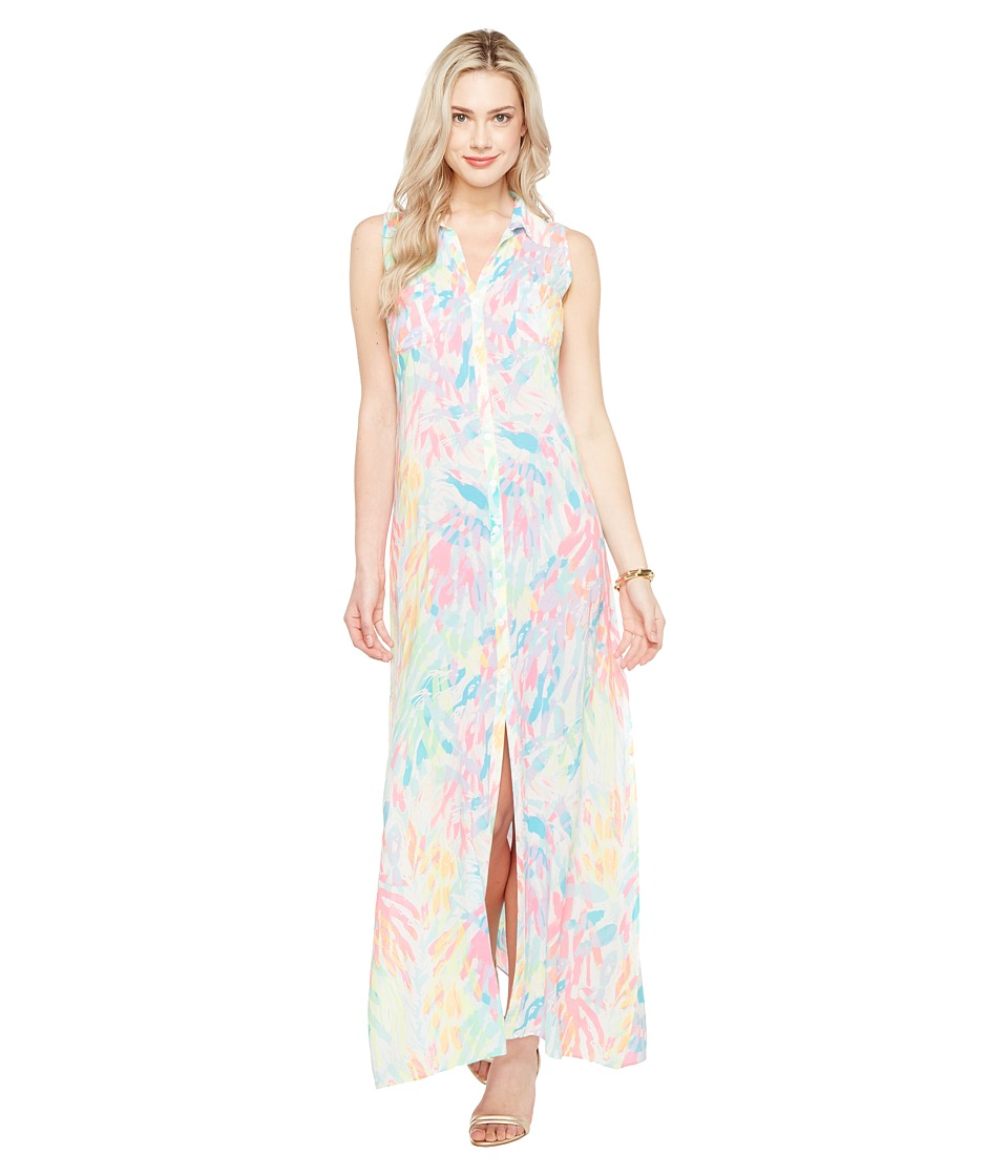 07b04f43 Lilly Pulitzer - Ezra Maxi Beach Dress (Multi Sparkling Sands) Women's Dress