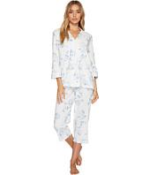 LAUREN Ralph Lauren - 3/4 Sleeve Classic Notch Collar Capri Pajama