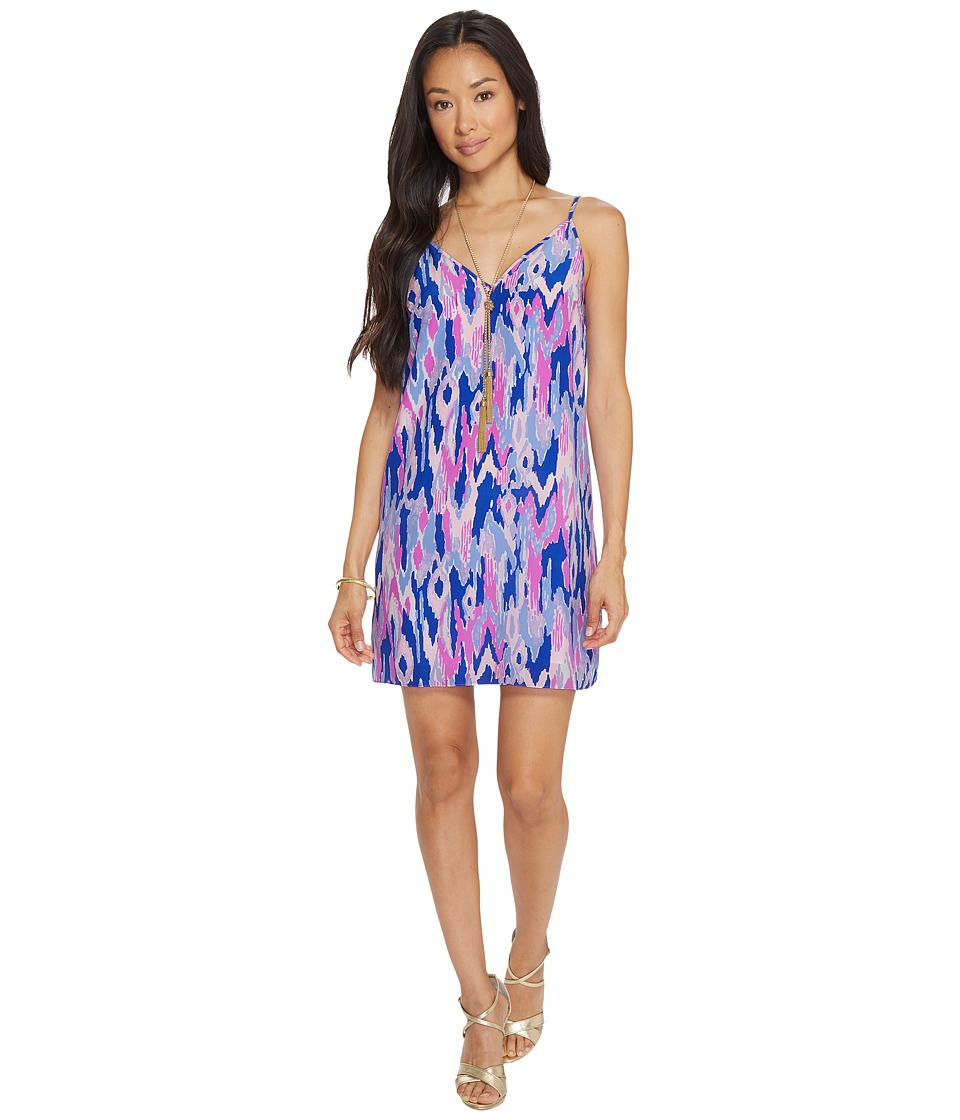 Lilly Pulitzer Lela Silk Dress (Amethyst One Too Many) Women