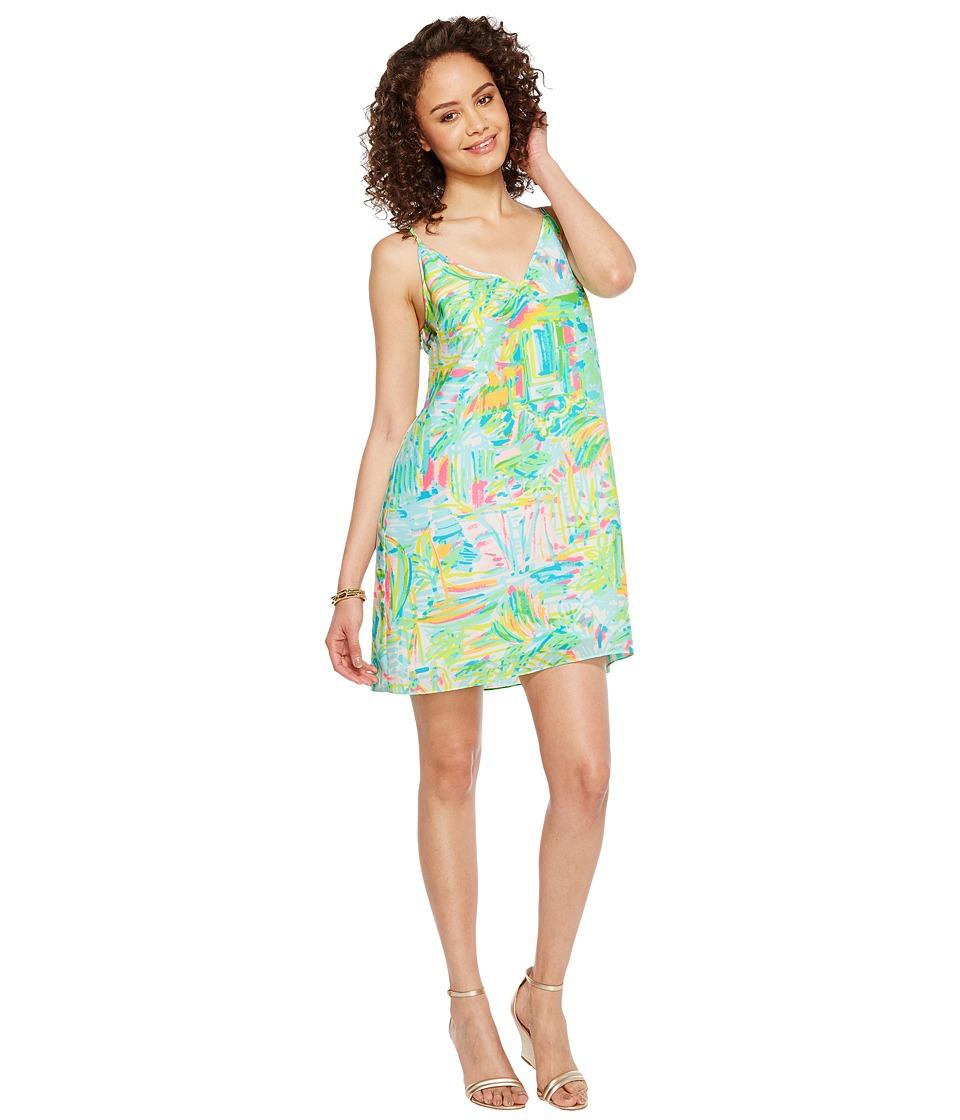 Lilly Pulitzer Lela Silk Dress (Multi Sea Salt and Sun) Women