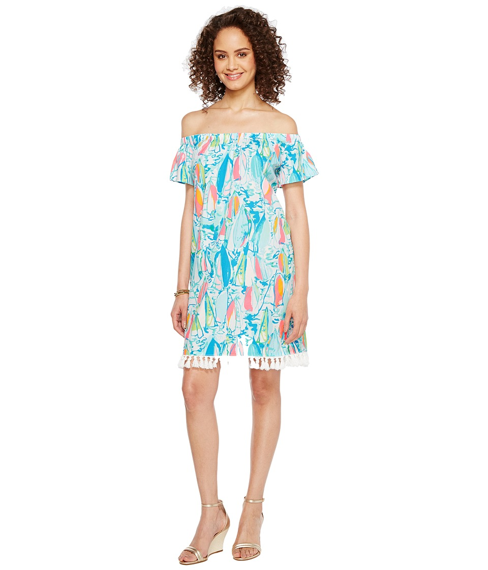 Lilly Pulitzer Marble Dress (Multi Beach and Bae Sunglow) Women