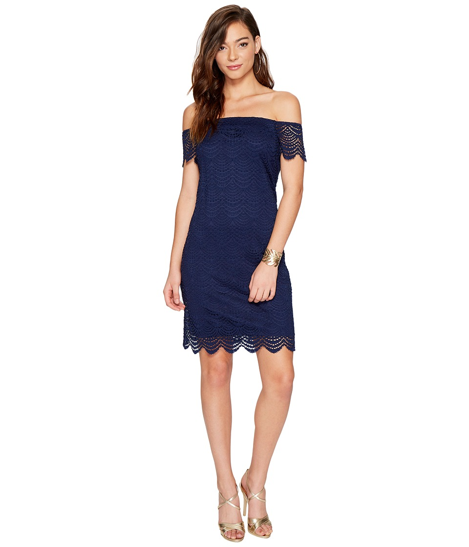 Lilly Pulitzer Jade Dress (True Navy Scalloped Shell Lace) Women