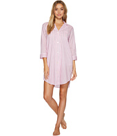 LAUREN Ralph Lauren - 3/4 Sleeve Classic Notch Collar Sleepshirt
