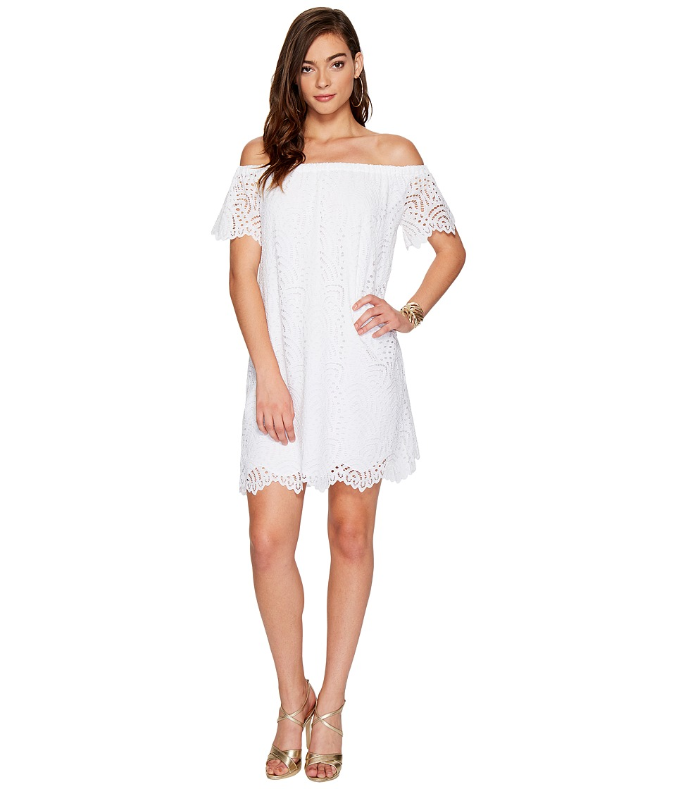 Lilly Pulitzer Marble Dress (Resort White Marine Tropic Lace) Women