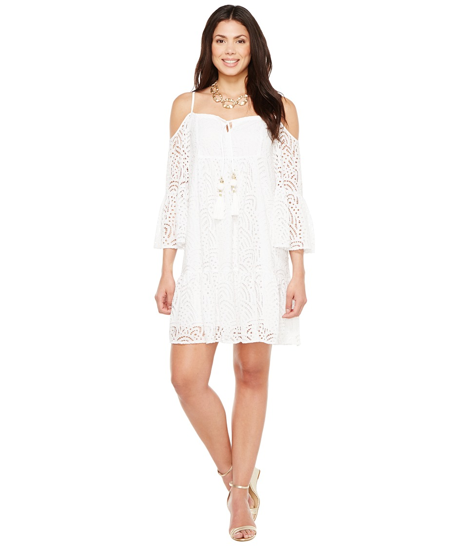 Lilly Pulitzer Alanna Dress (Resort White Marine Tropic L...
