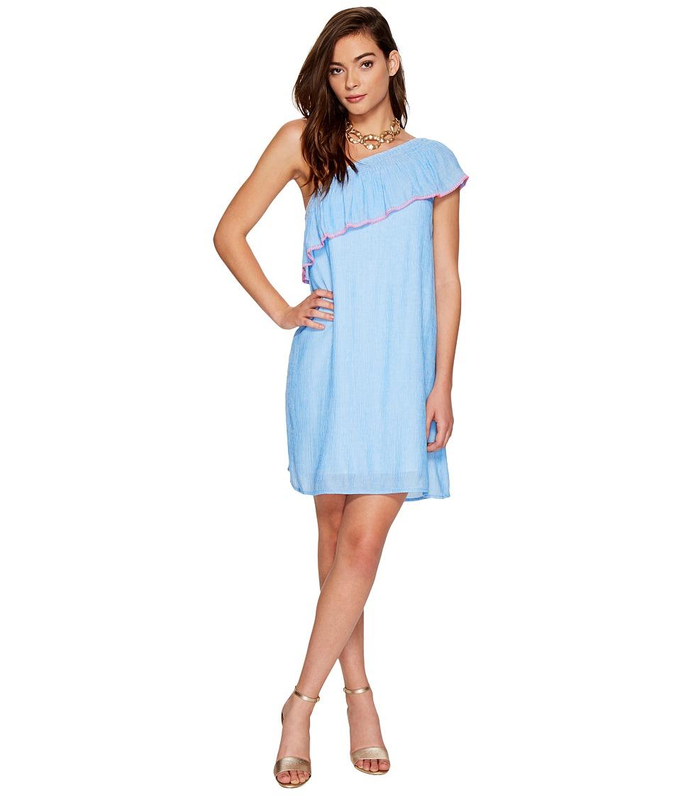Lilly Pulitzer Emmeline Dress (Lapis Blue Summer Seersucker) Women