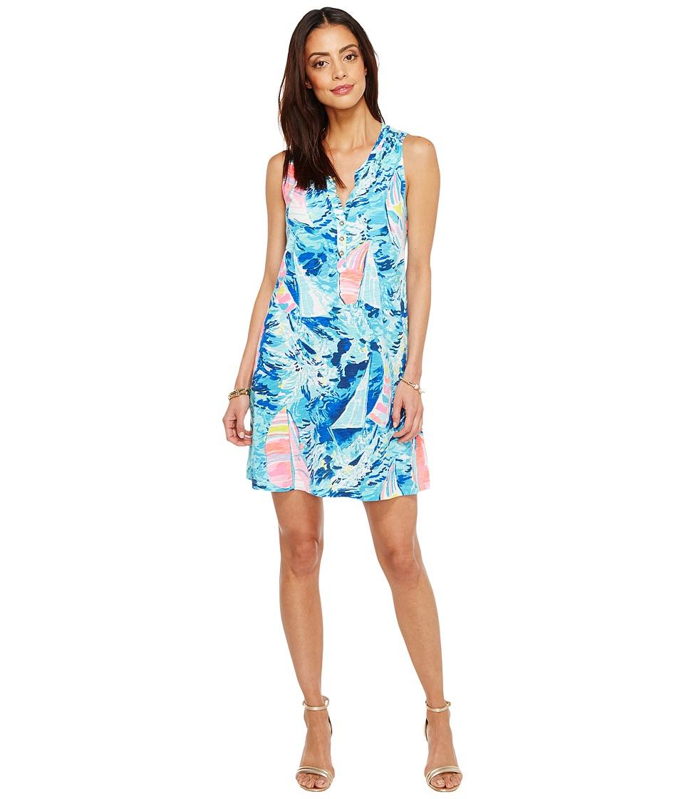 Lilly Pulitzer Essie Dress (Sparkling Blue Hey Bay Bay) Women