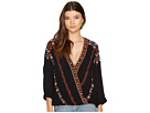 Free People - Crescent Moon Embroidered Blouse