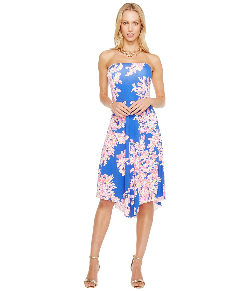 Lilly Pulitzer Loleta Dress (Brilliant Blue Its Electric)...