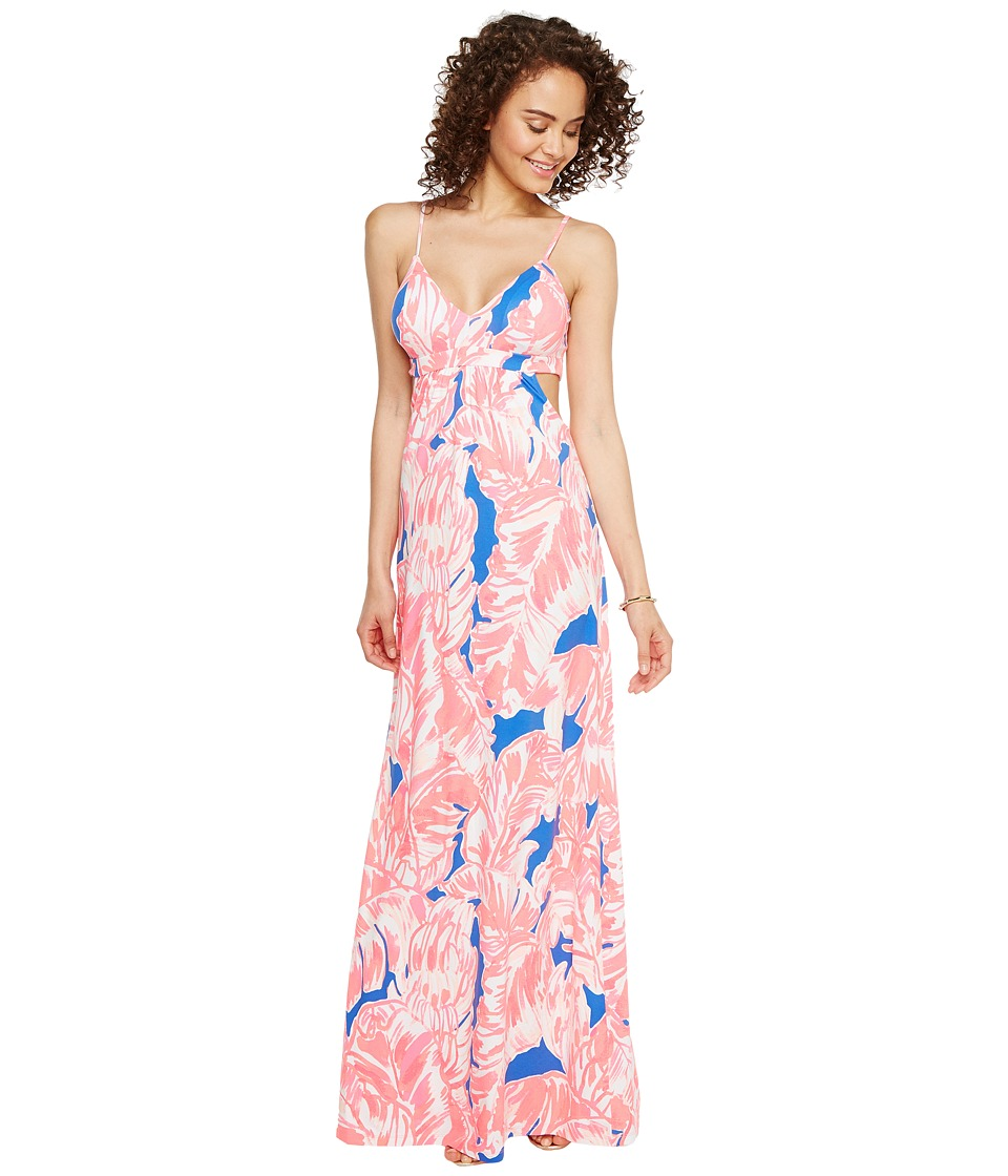 Lilly Pulitzer Linley Maxi Dress (Tiki Pink Beach Bliss) Women
