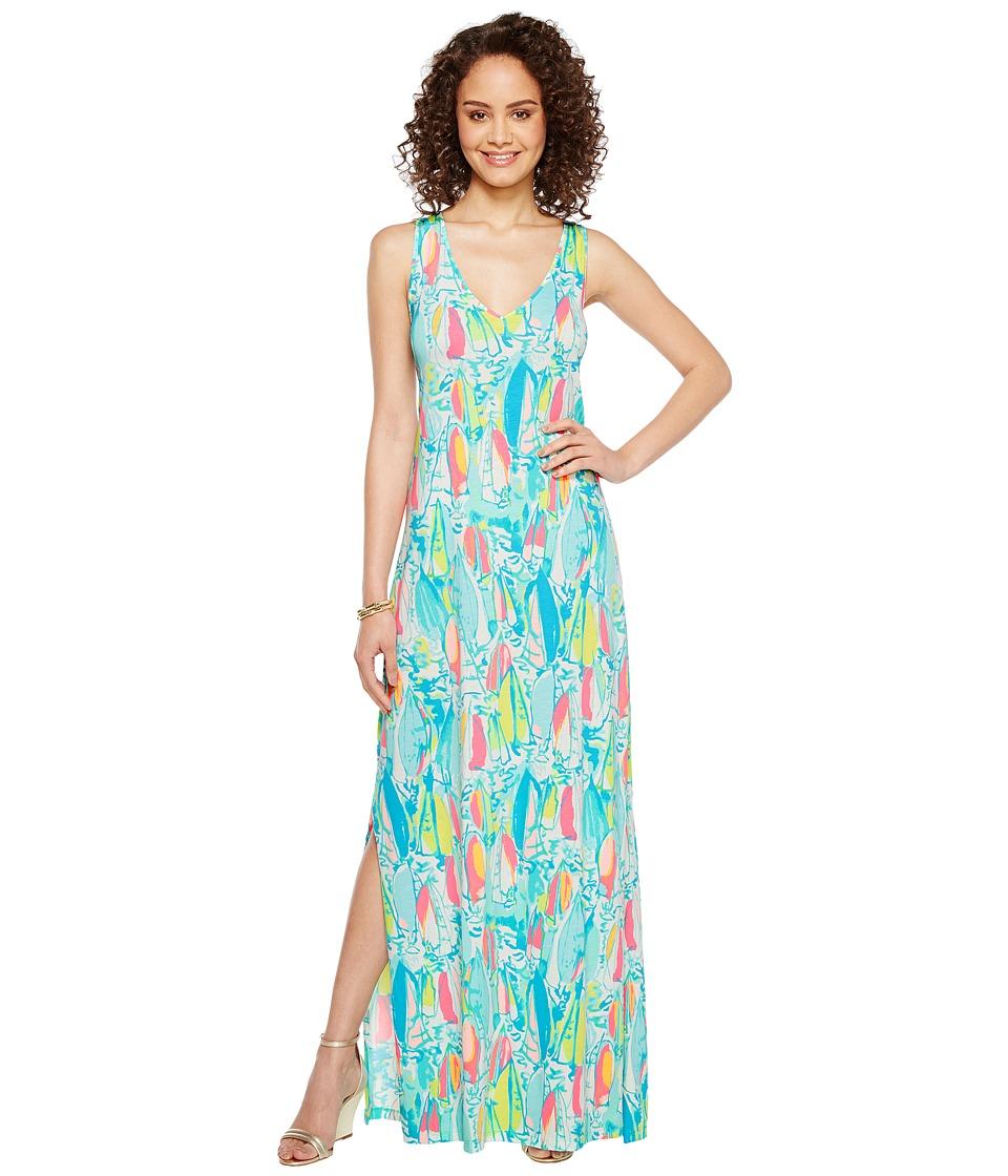 Lilly Pulitzer Kerri Maxi Dress (Multi Beach and Bae) Women