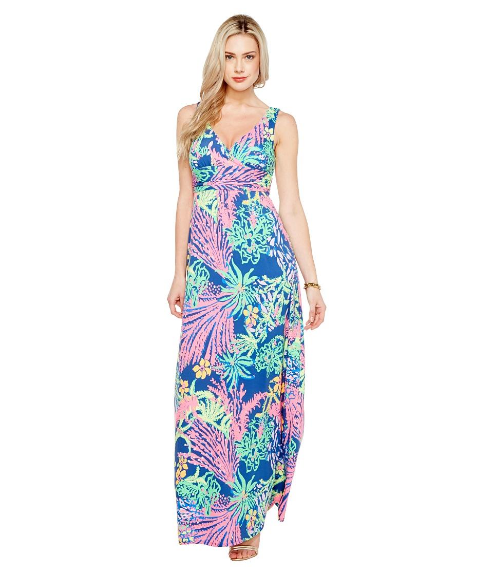 Lilly Pulitzer Sloane Maxi Dress (Indigo All A Glow) Wome...