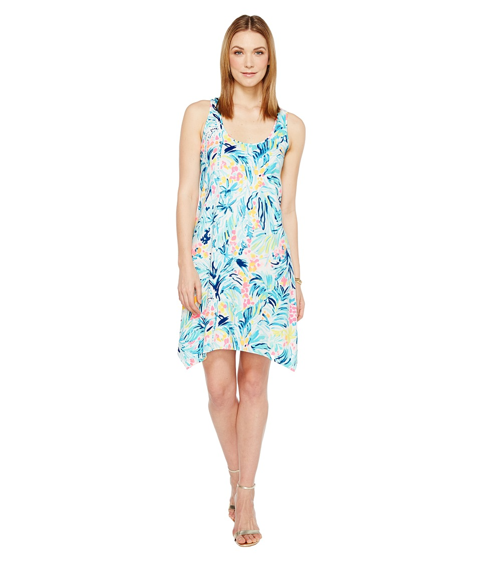 Lilly Pulitzer Melle Dress (Serene Blue Tippy Top) Women
