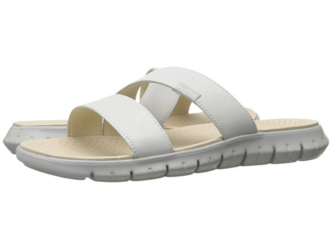 Cole Haan Zerogrand 2 Strap Sandal - Optic White Leather/Vapor Grey