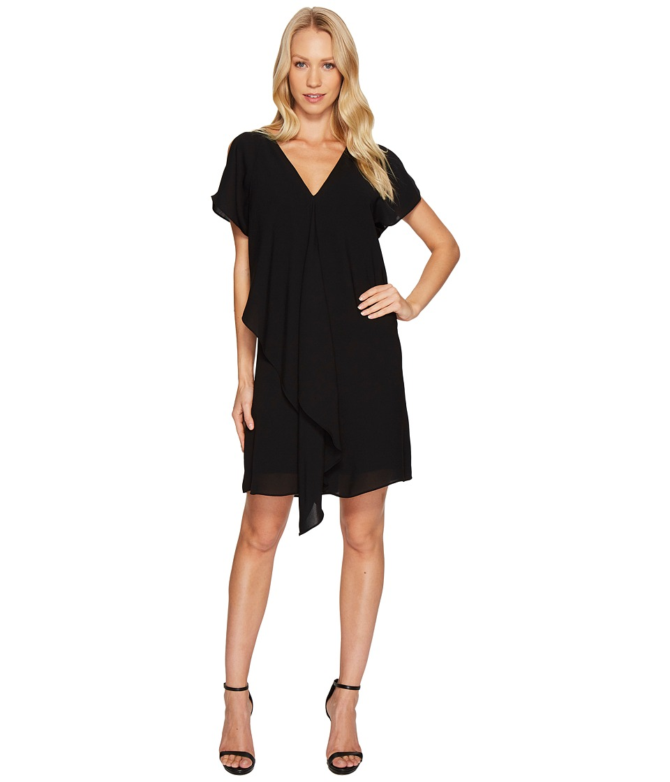 Adrianna Papell - Cold Shoulder Asymmetrical Draped Dress