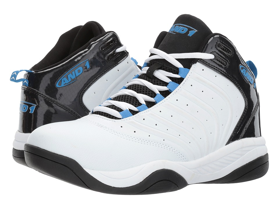 AND1 Drive (White/Black/Silver/Blue) Men's Basketball Shoes