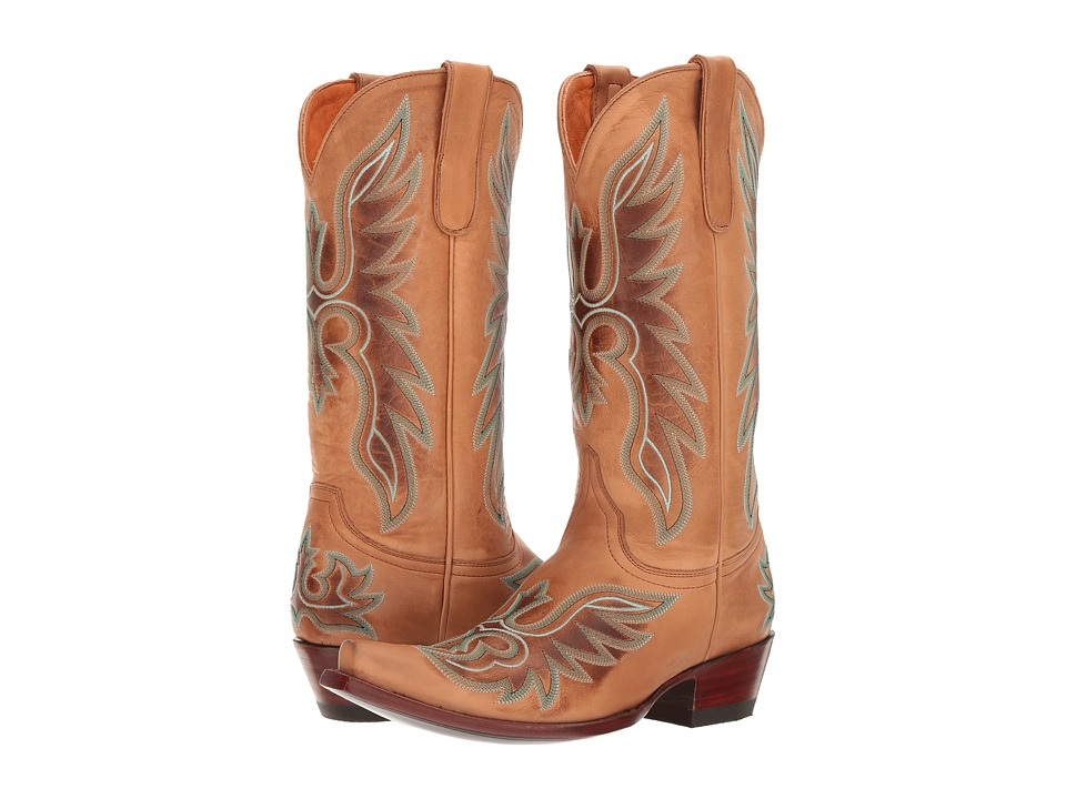 Old Gringo Brave (Taupe/White) Cowboy Boots