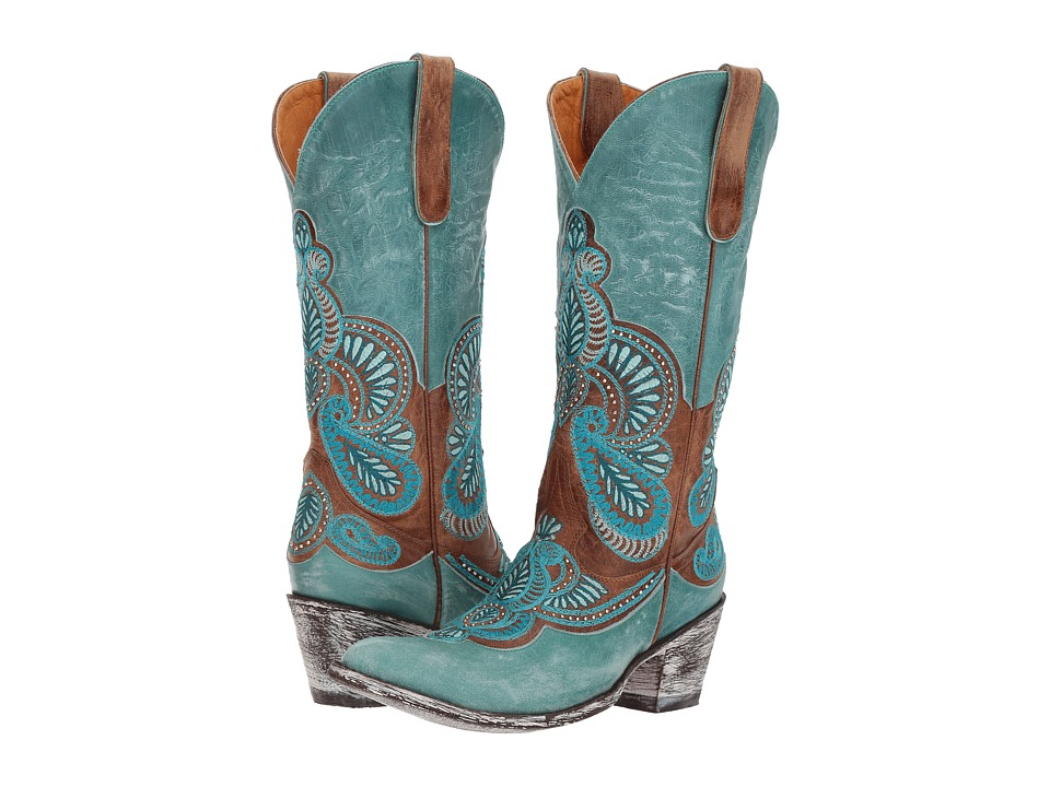 Old Gringo Bell (Oryx/Blue) Cowboy Boots