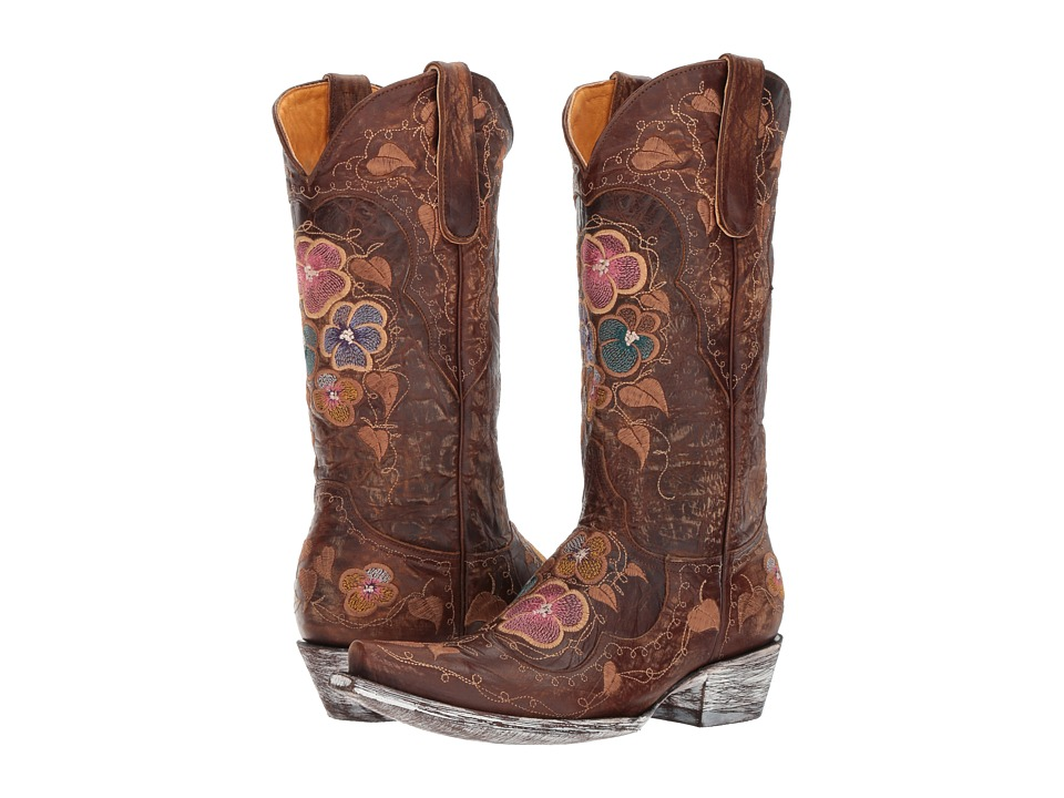 Old Gringo Pansy (Brass) Cowboy Boots