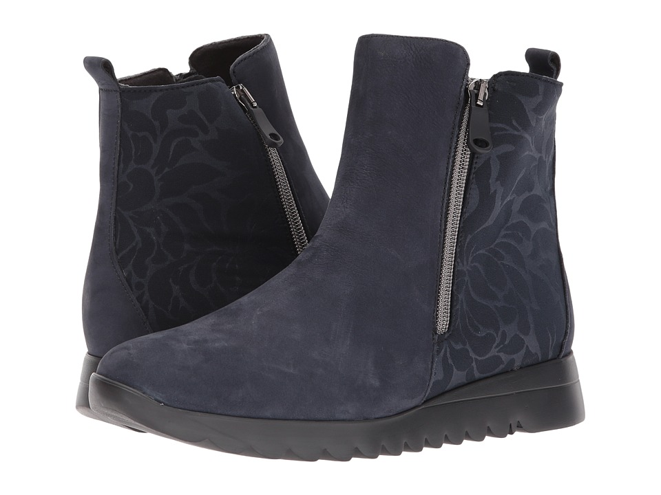 Munro Ashcroft (Blue Nubuck/Floral Fabric) Women