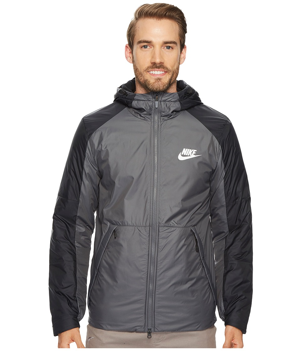 Nike Synthetic Fill Fleece Jacket (Dark Grey/Black/White)...