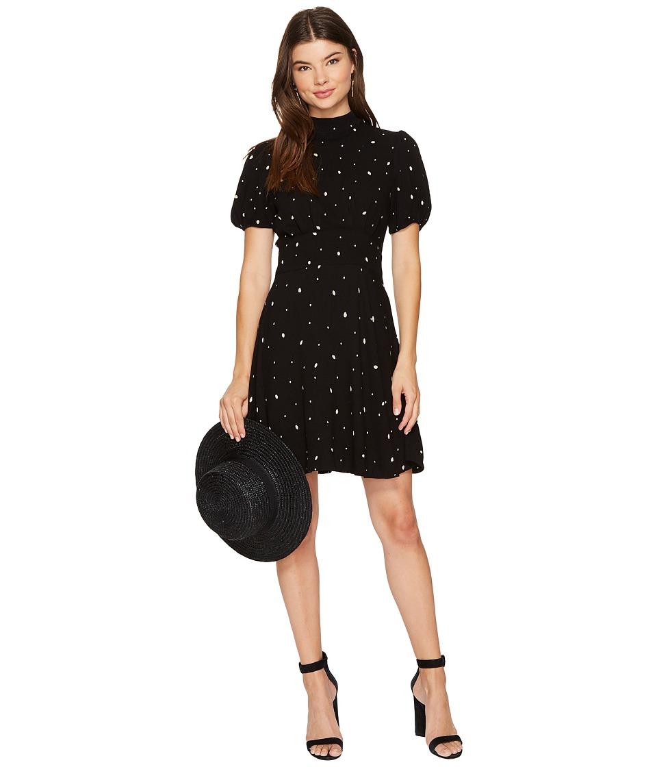 Free People Abbie Printed Mini Dress (Black Combo) Women