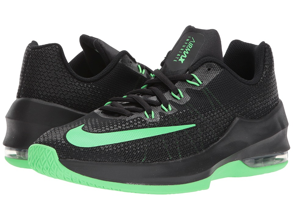 Nike Kids Air Max Infuriate Basketball (Big Kid) (Black/Rage Green) Boys Shoes
