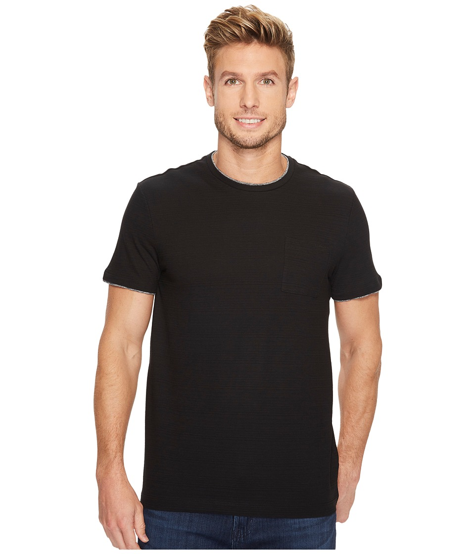 Calvin Klein Faux Double Layer Crew Neck T-Shirt (Black) Men
