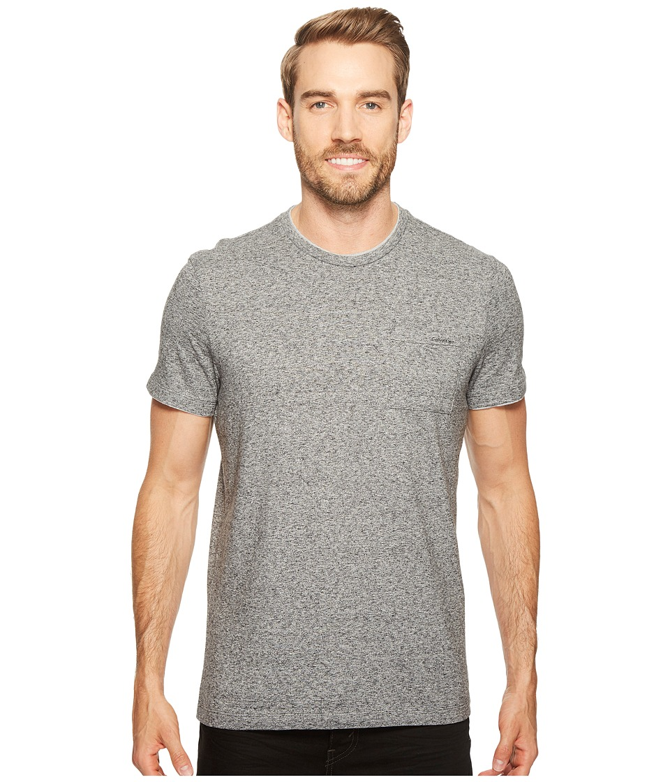Calvin Klein Faux Double Layer Crew Neck T-Shirt (Galaxy Heather) Men
