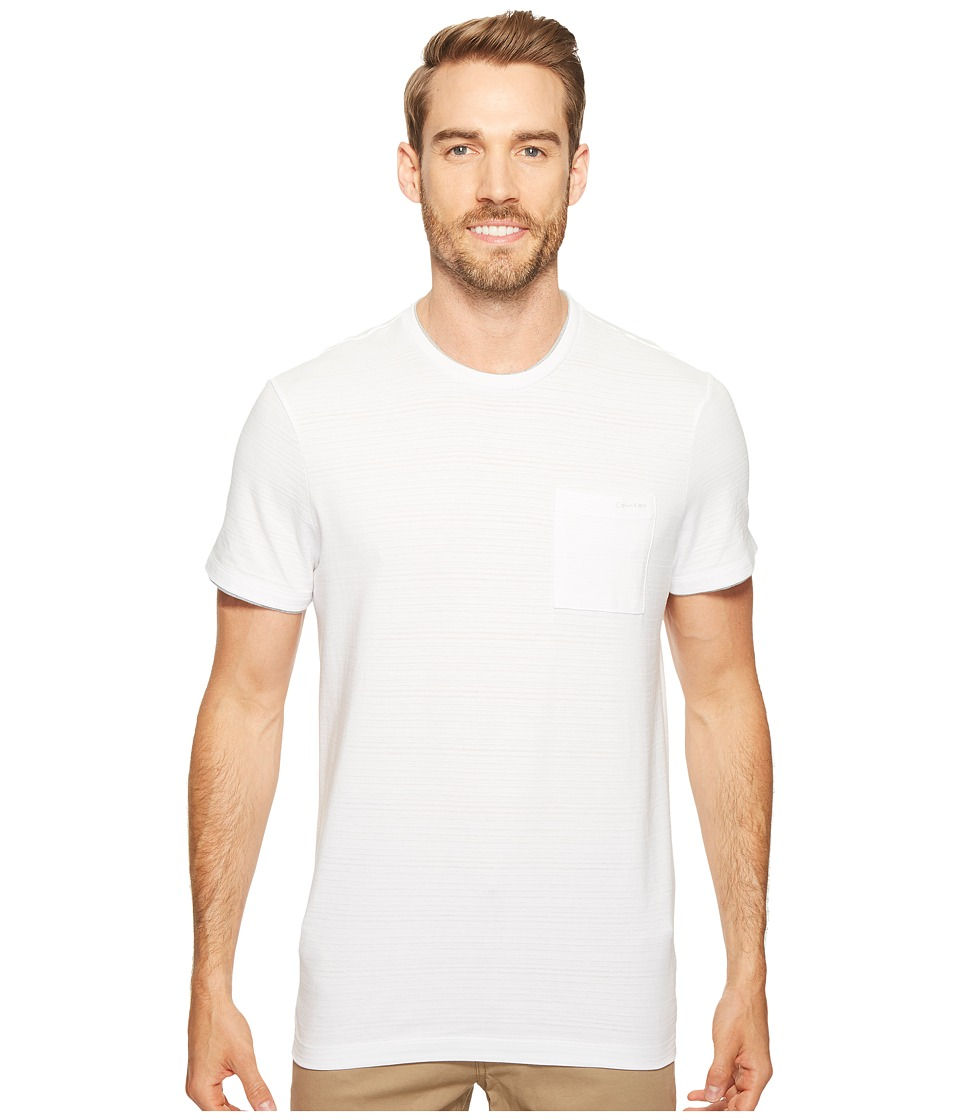 Calvin Klein Faux Double Layer Crew Neck T-Shirt (White Wash) Men