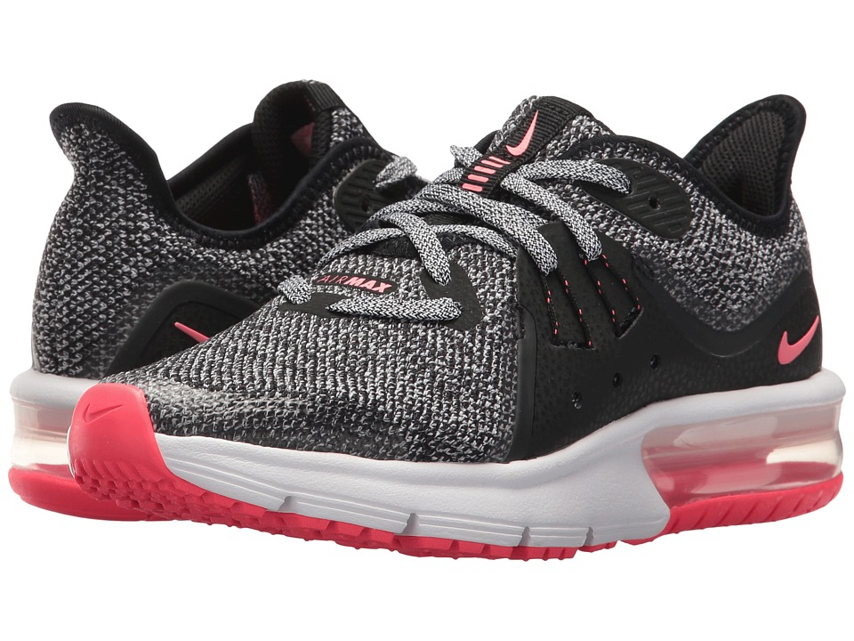 Nike Kids Air Max Sequent 3 (Big Kid) (Black/Racer Pink/Anthracite/Cool Grey) Girls Shoes