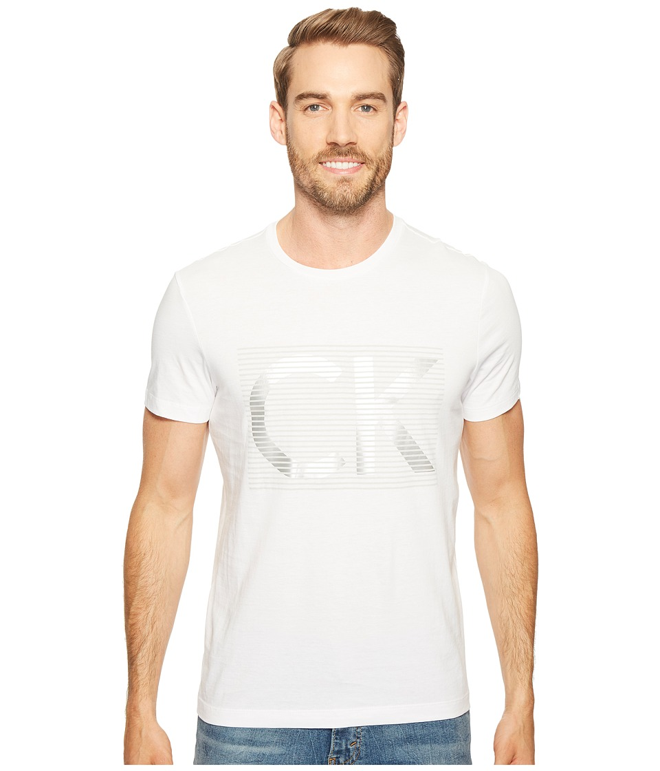 Calvin Klein Illusion CK Logo Crew Neck T-Shirt (White Out) Men