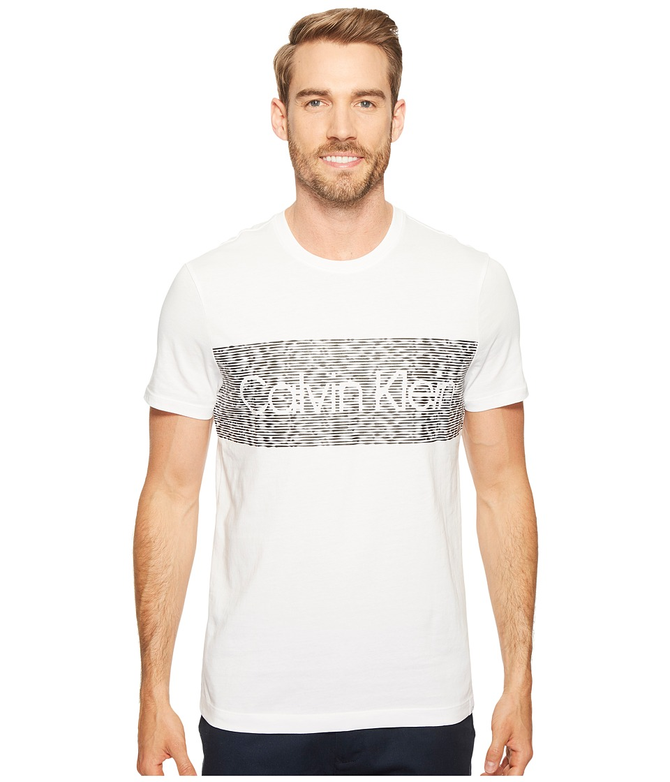 Calvin Klein Dash Logo Crew Neck T-Shirt (White Wash) Men