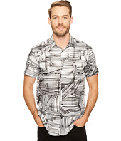 Calvin Klein - Marker Crosshatch Print Button Down Shirt
