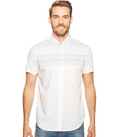Calvin Klein - Pieced Horizontal Stripe Button Down Shirt