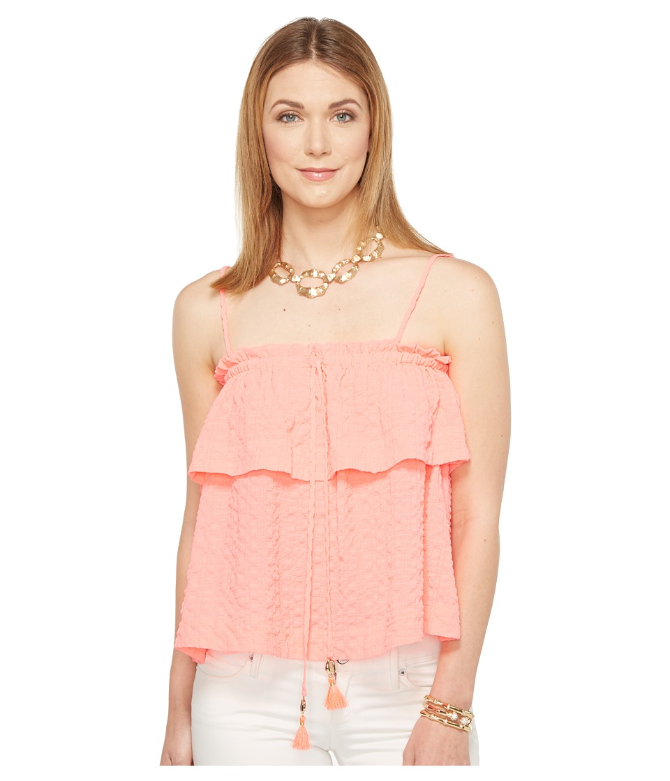 Lilly Pulitzer Mays Top (Coral Reef) Women's Clothing