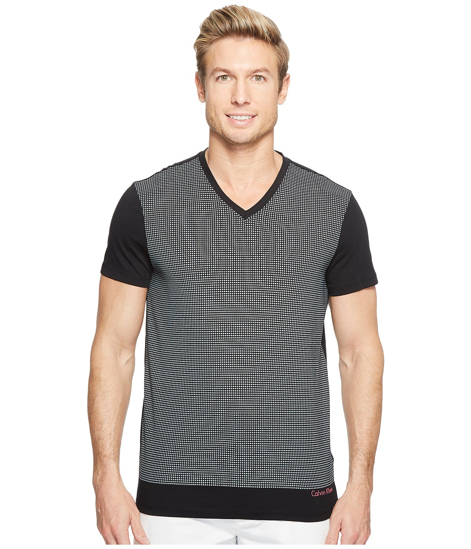 Calvin Klein Solid Dot Print Graphic T-Shirt (Black) Men