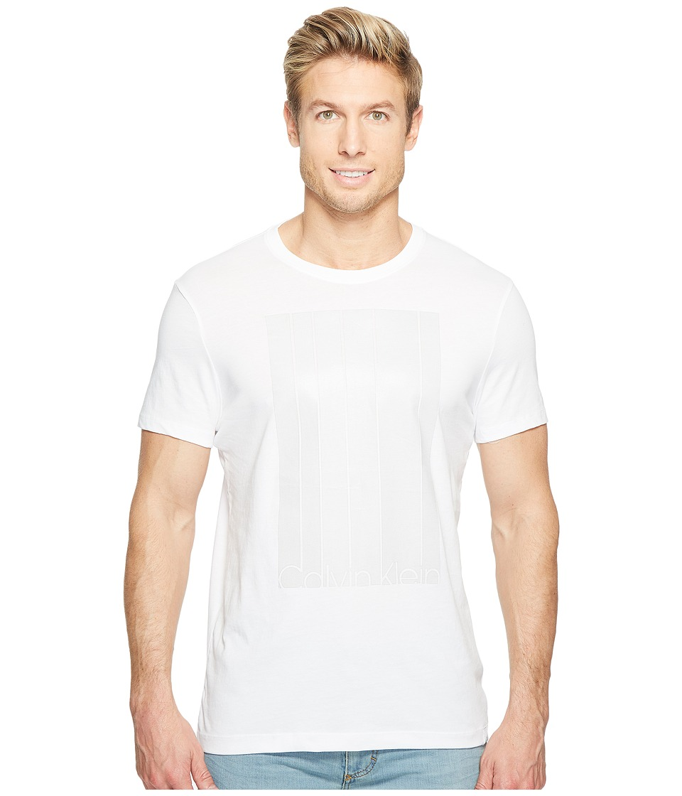 Calvin Klein Mesh Stripe Logo T-Shirt (White Wash) Men