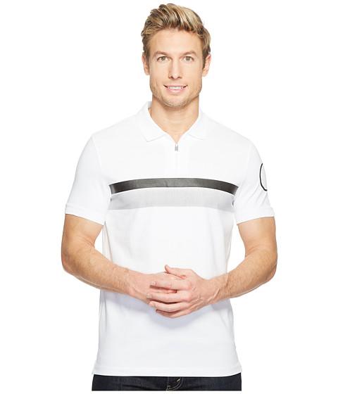 Calvin Klein Printed Stripe Zip Polo Shirt