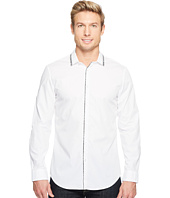 Calvin Klein - Printed Trim Collar Button Down Shirt