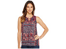 Paisley Lace-Up Tank Top