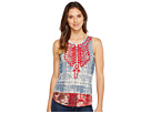 Embroidered Bib Tank Top