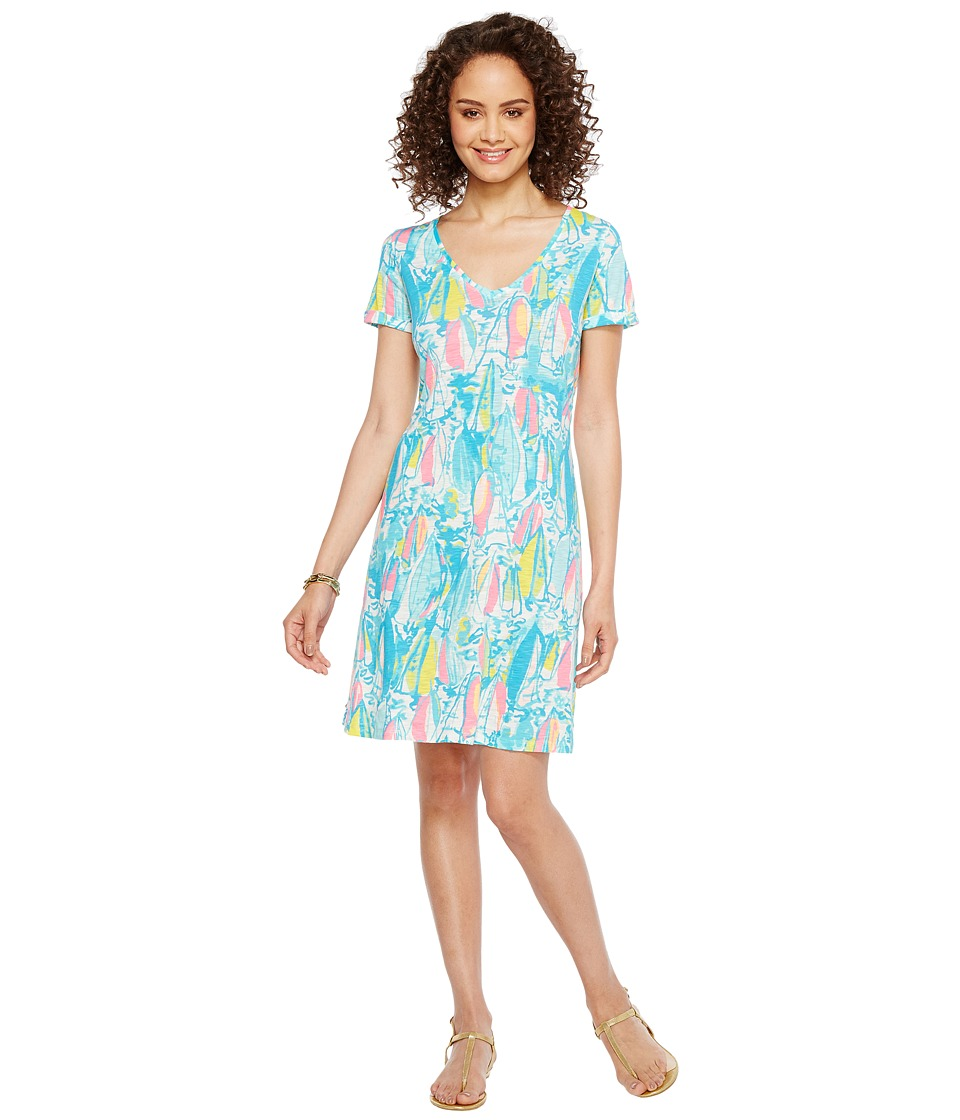 Lilly Pulitzer Jessica Short Sleeve Dress (Multi Beach and Bae Reduced) Women