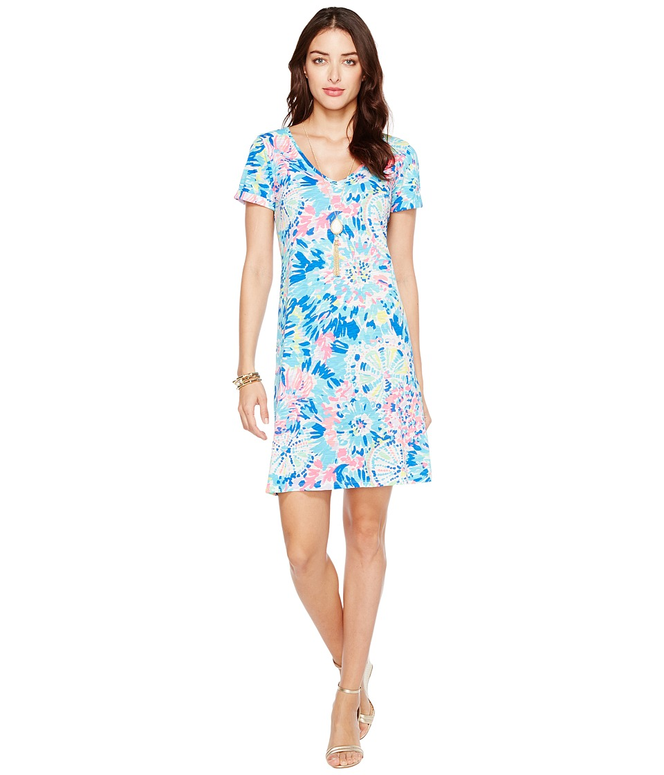 Lilly Pulitzer Jessica Short Sleeve Dress (Multi Dive in Reduced) Women