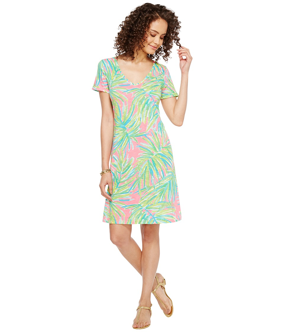 Lilly Pulitzer Jessica Short Sleeve Dress (Tiki Pink Royal Lime Reduced) Women
