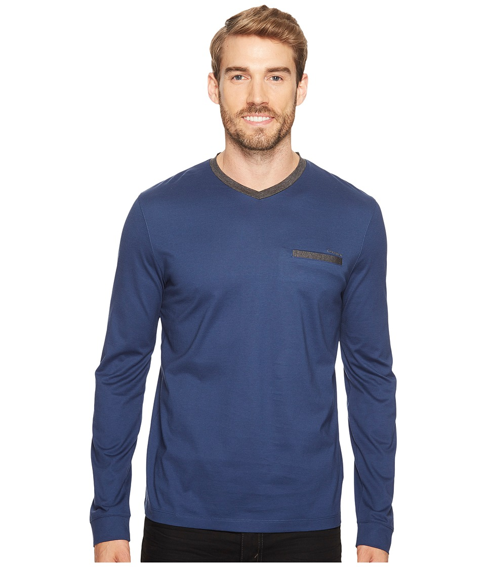 Calvin Klein Textured Jersey Contrast Welt Pocket Shirt (Luxe) Men