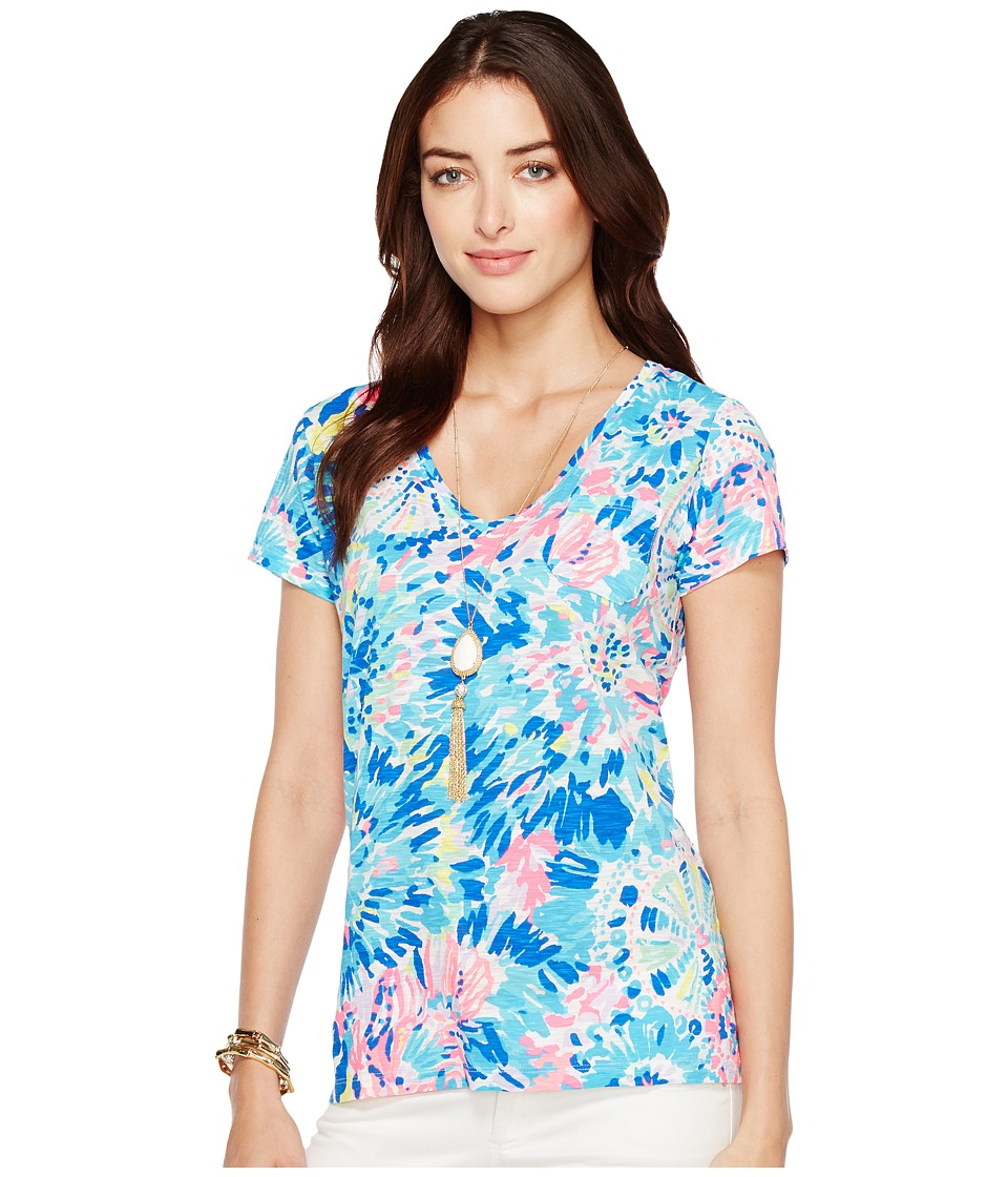 Lilly Pulitzer Meredith Short Sleeve Tee (Multi Dive in Reduced) Women