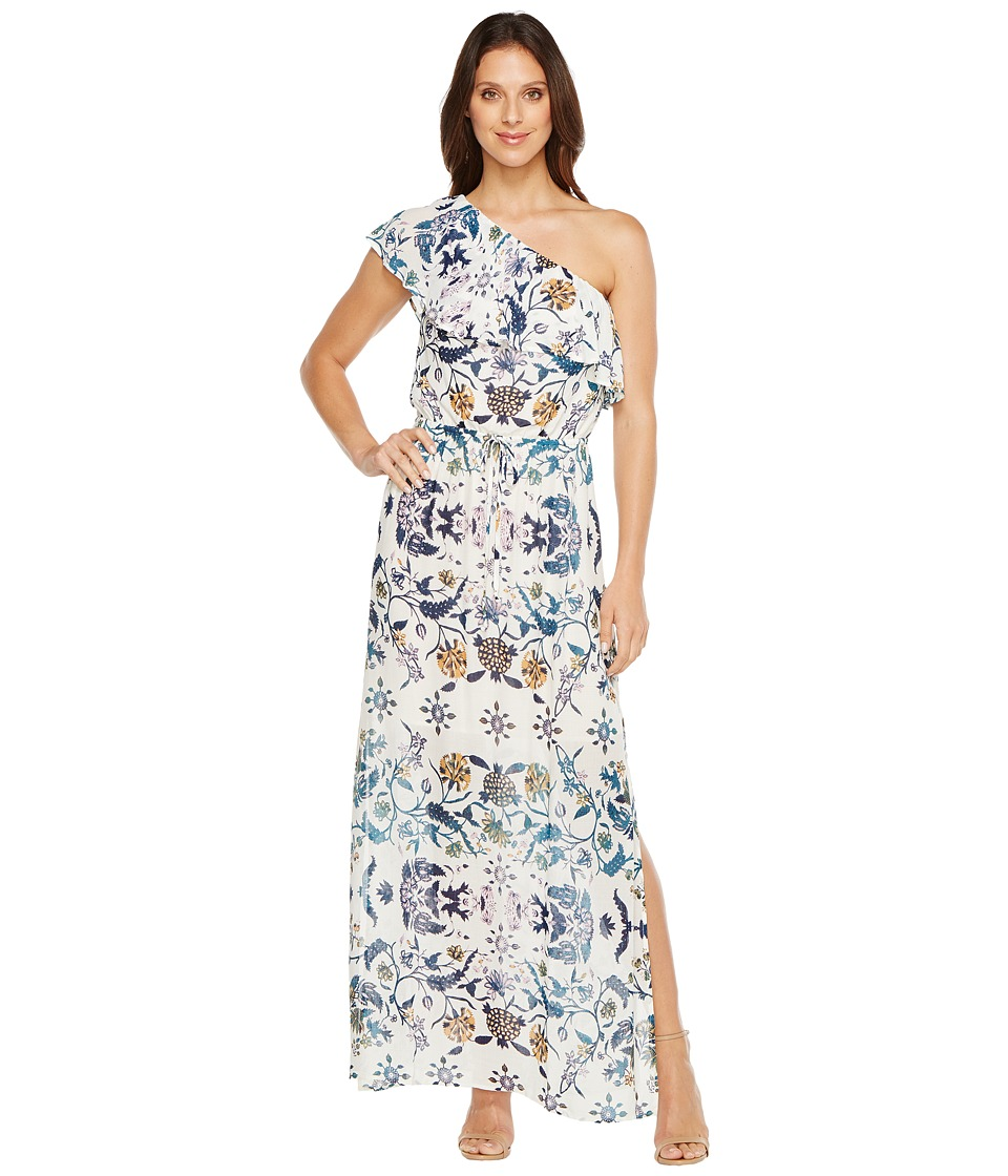 Lucky Brand Skylar Floral Maxi Dress (Natural Multi) Women